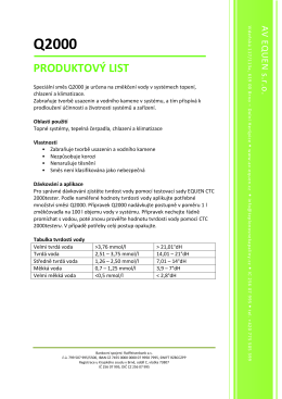 Produktový list Q2000