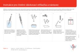 Instrukce pro čistění: dávkovací stříkačka a nástavec