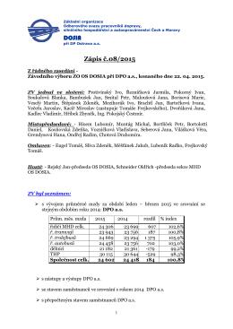 Zápis č. 08 ze dne 22.04. 2015