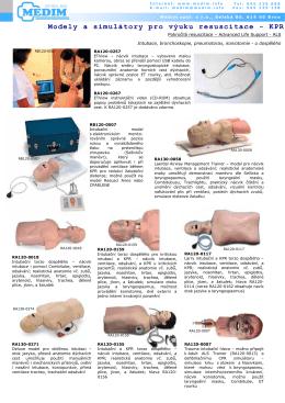 Modely a simulátory pro výuku resuscitace - KPR