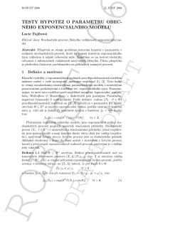 testy hypotéz o parametru obec