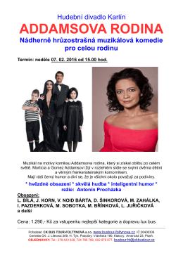 ADDAMSOVA RODINA - Cestovní kancelář BUS TOUR
