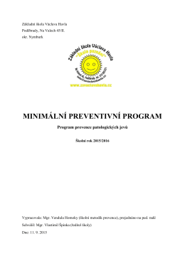 minimální preventivní program 2015/2016
