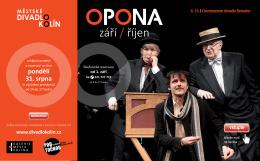 Program divadla Kolín (září