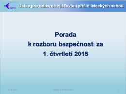 1. čtvrtletí 2015 - Ústav pro odborné zjišťování příčin leteckých nehod