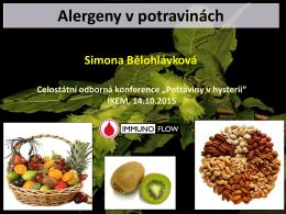 Alergeny v potravinách