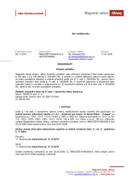 Magistrát města Jihlavy - odbor životního prostředí