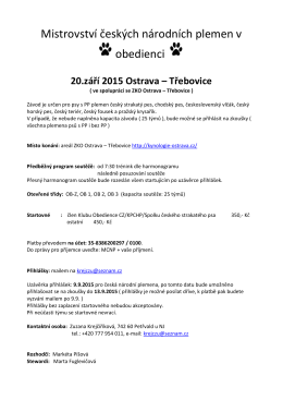 Mistrovství českých národních plemen v obedienci