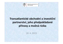 Transatlantické obchodní a investiční partnerství - eu