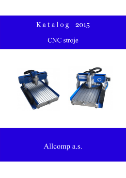 CNC stroje - Allcomp as