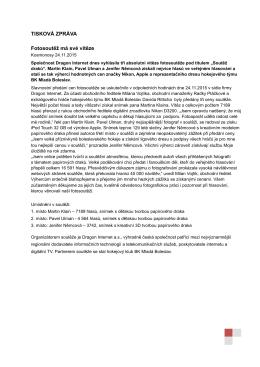 DRAGON INTERNET_FOTOSOUTĚŽ_TISKOVÁ ZPRÁVA_24112015