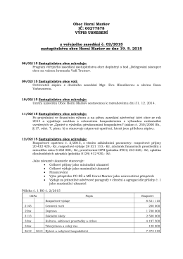 Usnesení zastupitelstva obce č. 2/2015