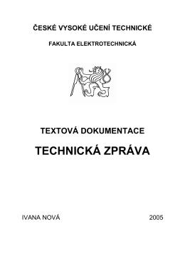 Technická zpráva