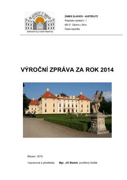 Výroční zpráva pro rok 2014 - Zámek Slavkov