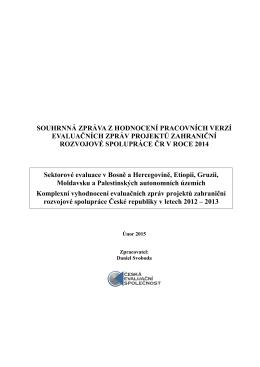 Souhrnná zpráva - Česká evaluační společnost
