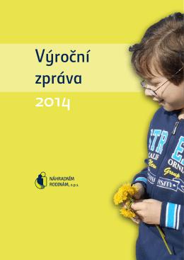 výroční zpráva 2014 - Náhradním rodinám ops