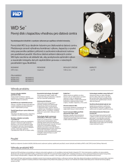 WD Se Datacenter Marketing Spec Sheet