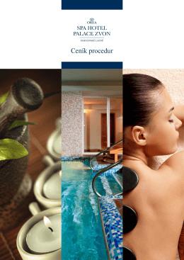 Ceník lázeňských proccedur - Orea Spa Hotel Palace Zvon