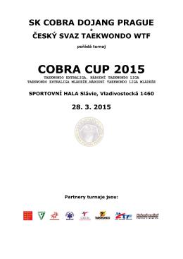 Propozice COBRA CUP 2015