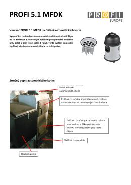 Vysavač na čištění automatických kotlů na tuhá paliva