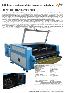 CO2 laser s automatickým posunem materiálu RC-AF1610