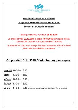 Příloha - Vysoká škola obchodní v Praze