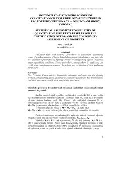 Otto Dvořák Možnosti statistického posouzení kvantitativních