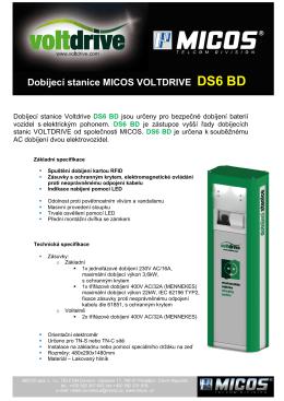 Dobíjecí stanice MICOS VOLTDRIVE DS6 BD