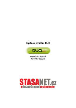 Český manuál k digitálnímu systému DUO