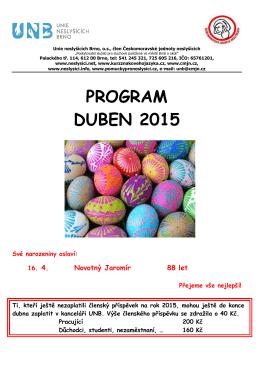 PROGRAM DUBEN 2015 - Unie neslyšících Brno