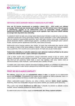 eC tisková zpráva před aukcí - Služba občanům _1__docx