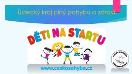 projekt Děti na startu - Ústecký kraj plny pohybu