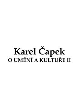 Karel Čapek - Městská knihovna v Praze