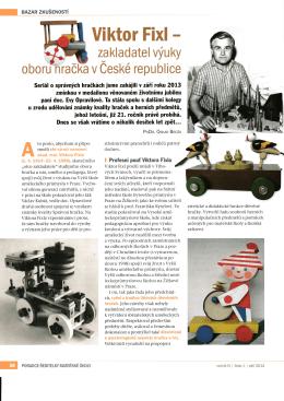 Viktor Fixl - zakladatel výuky oboru hračka v České republice