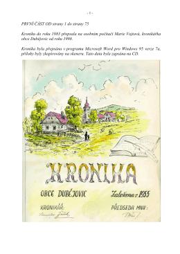 1. kronika od 1 do 75 - dubejovice.cz