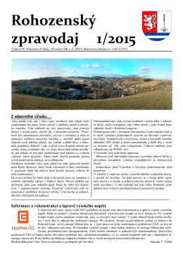 Rohozenský zpravodaj 1/2015