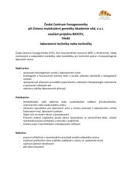 České Centrum Fenogenomiky při Ústavu molekulární genetiky