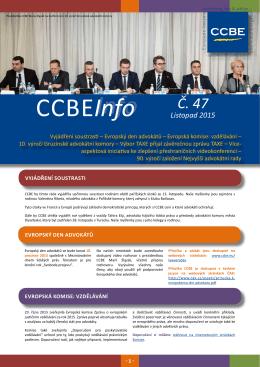 CCBE-INFO 47 - Listopad 2015