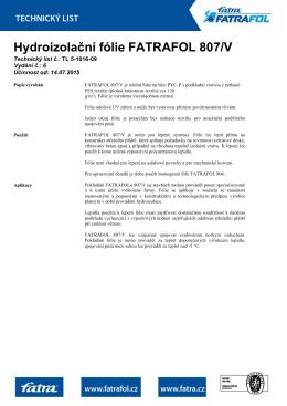 Střešní fólie FATRAFOL 807/V