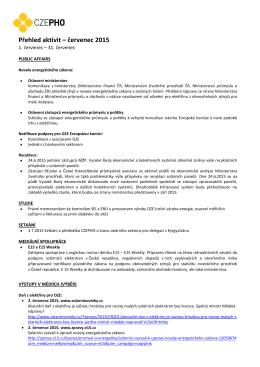 červenec 2015 - Česká fotovoltaická průmyslová asociace