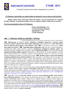 02/2015 - Český zahrádkářský svaz