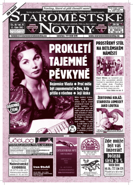 sTAROMEsTsKE NOVINY