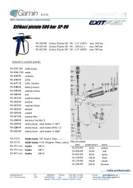 Stříkací pistole 500 bar SP-90
