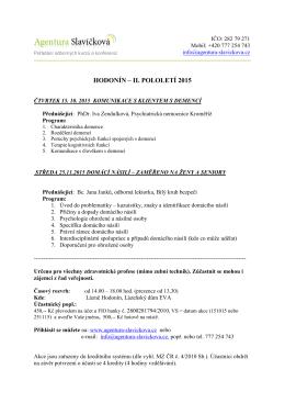 HODONÍN – II. POLOLETÍ 2015