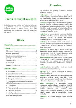 Charta světových zelených 2012