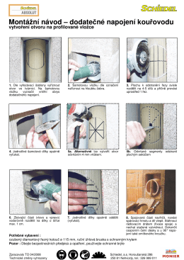Montážní návod – dodatečné napojení kouřovodu