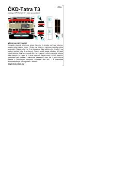 (prototyp po vyrobení) 6102–6327 Praha (I.–II. série po dodání)