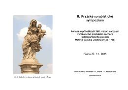 II. Pražské sorabistické sympozium konané u