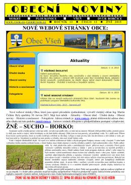 Obecní noviny č. 12-2015