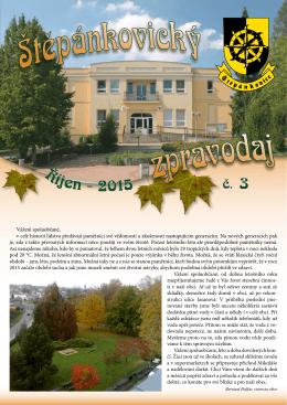 Štěpánkovický zpravodaj č. 3 - říjen 2015